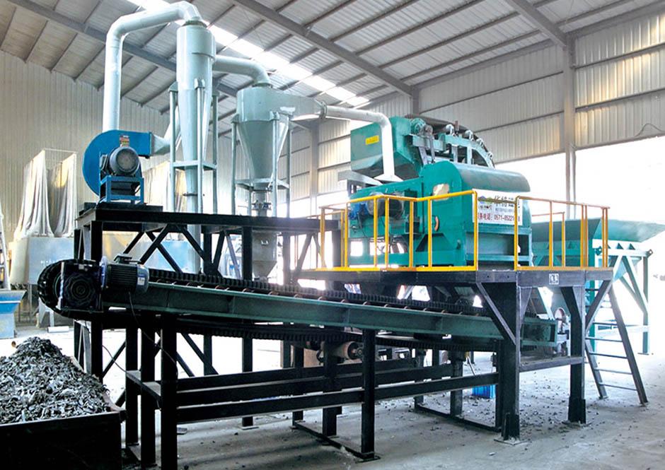 Completely non-ferrous metal separation production line1