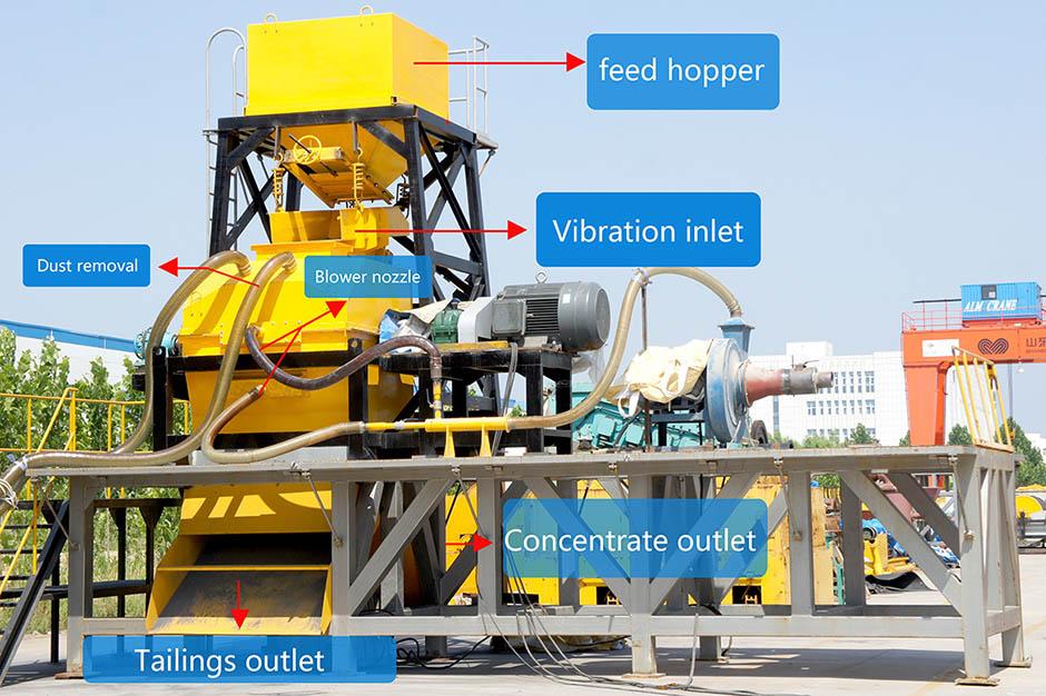 Air force dry magnetic separator 3